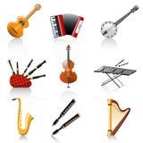 Instrumentos musicales ilustración del vector