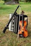 Instrumentos musicales Fotografía de archivo
