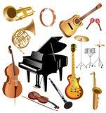 Instrumentos musicales Imágenes de archivo libres de regalías