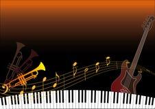 Instrumentos musicales Imagen de archivo libre de regalías