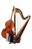 Instrumentos musicales ACÚSTICOS Foto de archivo libre de regalías
