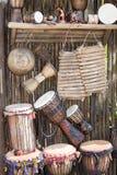 Instrumentos musicales africanos Imágenes de archivo libres de regalías