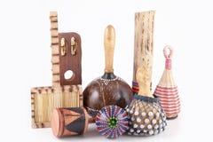 Instrumentos musicales africanos Imagen de archivo