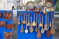 Instrumentos musicales comerciales Imagen de archivo libre de regalías