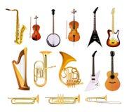 Instrumentos musicales de la orquesta ilustración del vector