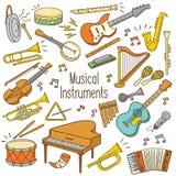 Instrumentos musicales del Doodle libre illustration