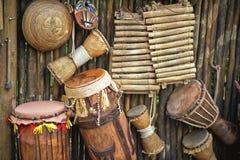 Instrumentos musicales hechos a mano Imagen de archivo libre de regalías