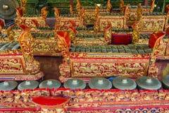 Instrumentos musicales tradicionales, Bali, Indonesia Imagen de archivo
