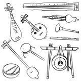 Instrumentos musicales tradicionales chinos Imagenes de archivo