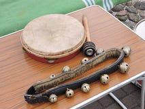 Instrumentos musicales viejos Fotografía de archivo libre de regalías
