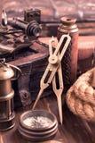 Instrumentos náuticos de Varuous Fotos de archivo