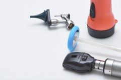 Instrumentos neurológicos en oficina médica imagen de archivo libre de regalías
