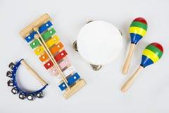 Instrumentos para los niños Fotografía de archivo