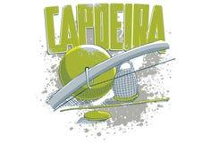 Instrumentos verdes y azules de Capoeira Fotos de archivo