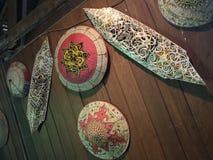 Instruments antiques des indigènes de Sarawak photographie stock libre de droits