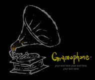 Instruments collection -6:Gramophone Royalty Free Stock Photos