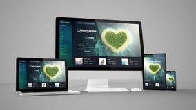 instruments d'ordinateur avec le site Web de voyage sur l'écran Photographie stock