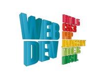 Instruments de développement de Web Photo stock