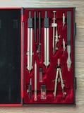 Instruments de dessin Images stock