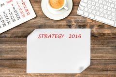 Instruments de Digital Calendrier 2016 Stratégie et gestion Image libre de droits