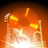 Instruments de jazz à la lumière de l'ONU Photos stock
