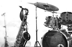 Instruments de jazz Photos libres de droits