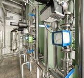 Instruments de mesure dans le réseau de pipe-lines de l'équipement de filtrage photographie stock