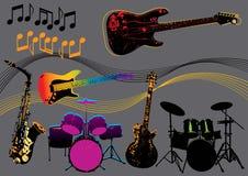 Instruments de musique illustration de vecteur