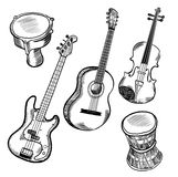 Instruments de musique Photo stock