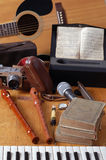 Instruments de musique Photo stock
