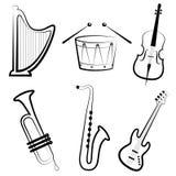 Instruments de musique Photographie stock
