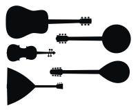 Instruments de musique Photographie stock libre de droits