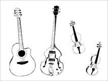 Instruments de musique Photos stock