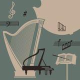 Instruments de musique Images libres de droits