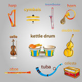 Instruments de musique illustration stock
