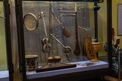 Instruments de musique antiques Photographie stock libre de droits