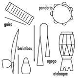 Instruments de musique de Capoeira de Brésilien Photos libres de droits