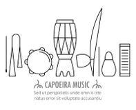 Instruments de musique de Capoeira de Brésilien Images stock