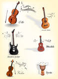Instruments de musique classiques Image libre de droits