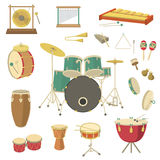 Instruments de musique de percussion Image stock