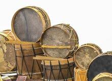Instruments de percussion typiques des Îles Canaries Images libres de droits