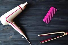 Instruments de soins capillaires Salon de beauté photo stock