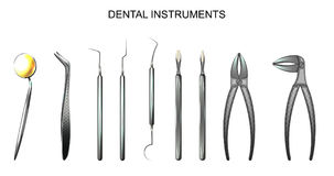 Instruments dentaires dentistry illustration stock