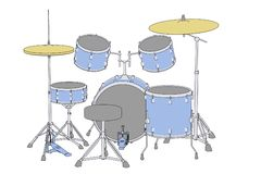 Instruments - drum set Royalty Free Stock Image