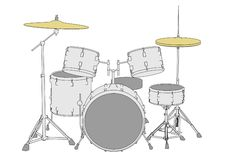 Instruments - drum set Royalty Free Stock Photo