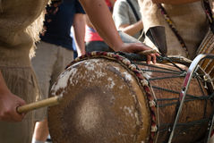 Instruments Drums. African inspired drum music instruments Stock Photography