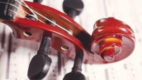 Instruments et arts de musique de ficelle banque de vidéos