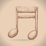 Instruments et notes de musique Photo stock