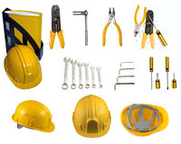 Instruments and helmets Stock Photography