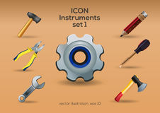 Instruments icon set royalty free illustration